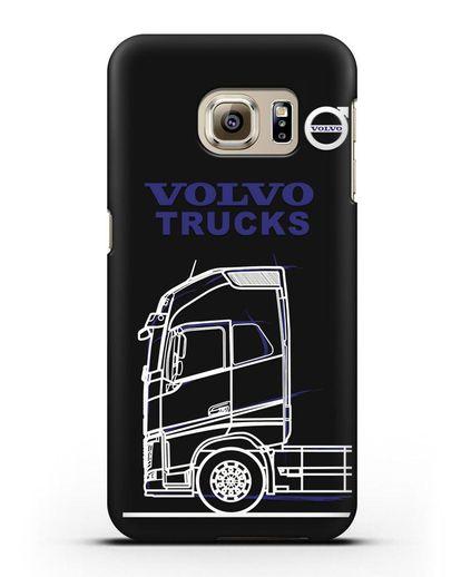 Чехол с изображением Volvo Trucks силикон черный для Samsung Galaxy S6 Edge [SM-G925F]