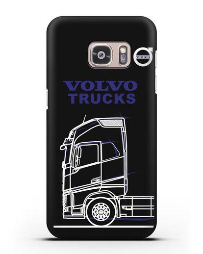 Чехол с изображением Volvo Trucks силикон черный для Samsung Galaxy S7 Edge [SM-G935F]