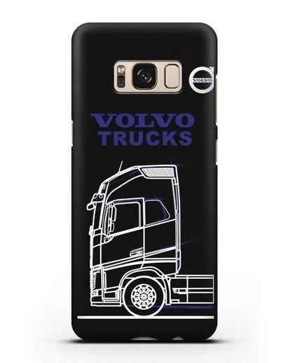 Чехол с изображением Volvo Trucks силикон черный для Samsung Galaxy S8 Plus [SM-G955F]