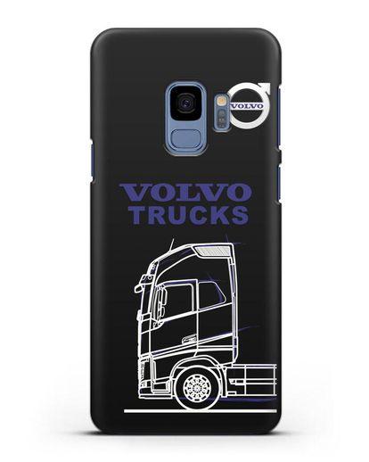 Чехол с изображением Volvo Trucks силикон черный для Samsung Galaxy S9 [SM-G960F]