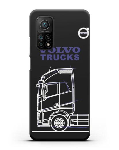 Чехол с изображением Volvo Trucks силикон черный для Xiaomi Mi 10t Pro