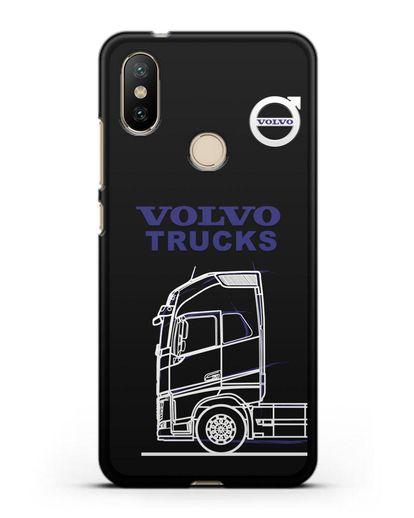 Чехол с изображением Volvo Trucks силикон черный для Xiaomi Mi 6X