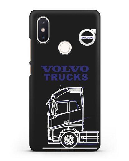 Чехол с изображением Volvo Trucks силикон черный для Xiaomi Mi 8 SE