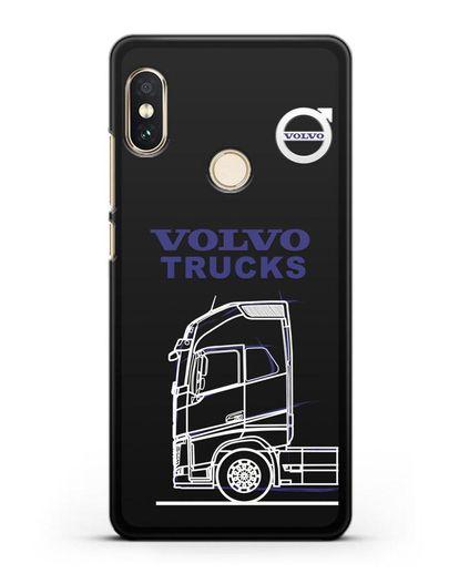 Чехол с изображением Volvo Trucks силикон черный для Xiaomi Mi A2 Lite