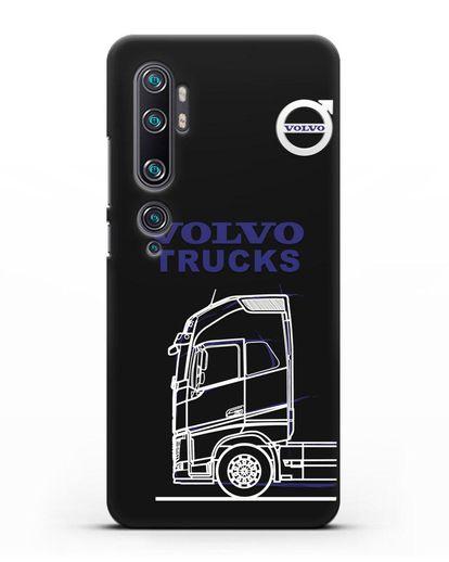 Чехол с изображением Volvo Trucks силикон черный для Xiaomi Mi Note 10