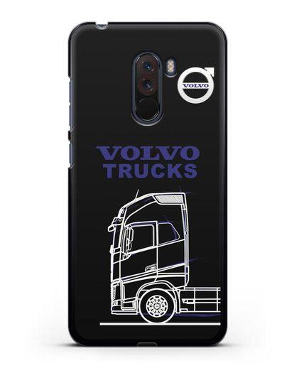 Чехол с изображением Volvo Trucks силикон черный для Xiaomi Pocophone F1