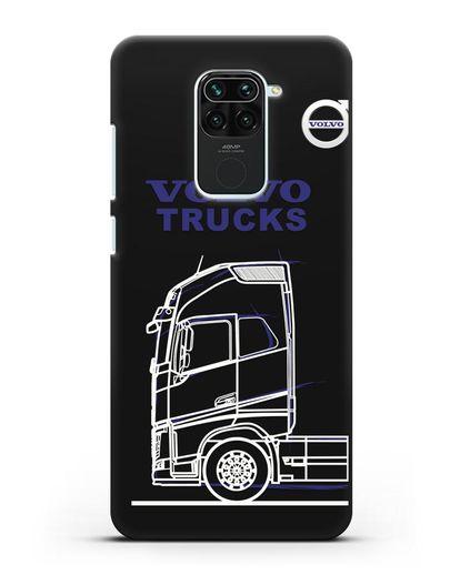 Чехол с изображением Volvo Trucks силикон черный для Xiaomi Redmi 10X