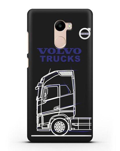 Чехол с изображением Volvo Trucks силикон черный для Xiaomi Redmi 4