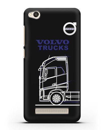 Чехол с изображением Volvo Trucks силикон черный для Xiaomi Redmi 4A