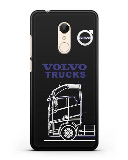 Чехол с изображением Volvo Trucks силикон черный для Xiaomi Redmi 5