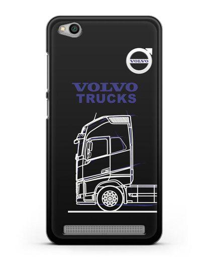 Чехол с изображением Volvo Trucks силикон черный для Xiaomi Redmi 5A