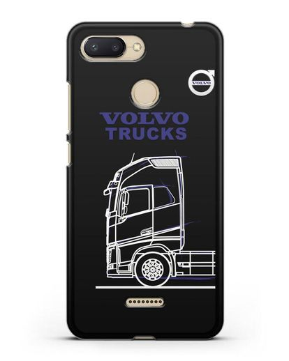 Чехол с изображением Volvo Trucks силикон черный для Xiaomi Redmi 6