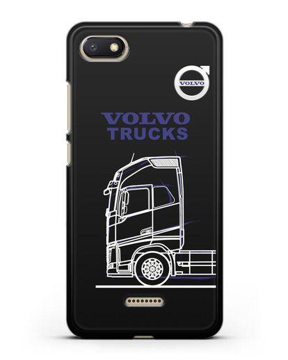 Чехол с изображением Volvo Trucks силикон черный для Xiaomi Redmi 6A