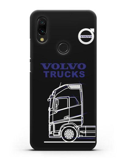 Чехол с изображением Volvo Trucks силикон черный для Xiaomi Redmi 7