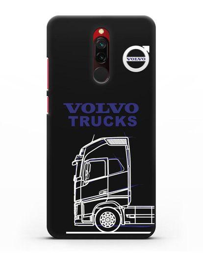 Чехол с изображением Volvo Trucks силикон черный для Xiaomi Redmi 8