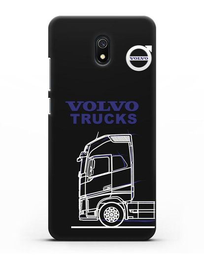 Чехол с изображением Volvo Trucks силикон черный для Xiaomi Redmi 8A