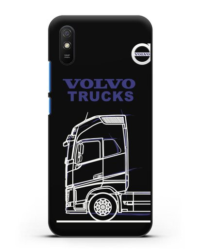 Чехол с изображением Volvo Trucks силикон черный для Xiaomi Redmi 9A