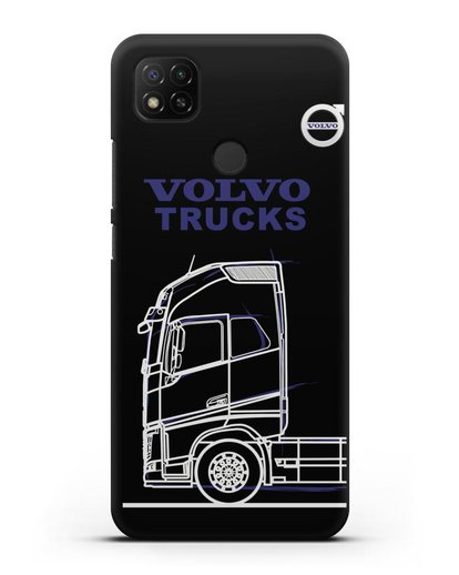 Чехол с изображением Volvo Trucks силикон черный для Xiaomi Redmi 9С