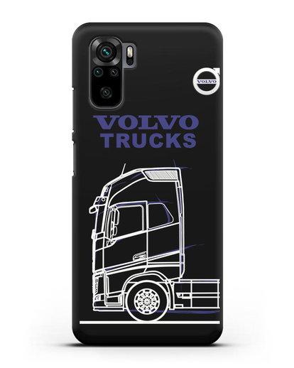 Чехол с изображением Volvo Trucks силикон черный для Xiaomi Redmi Note 10