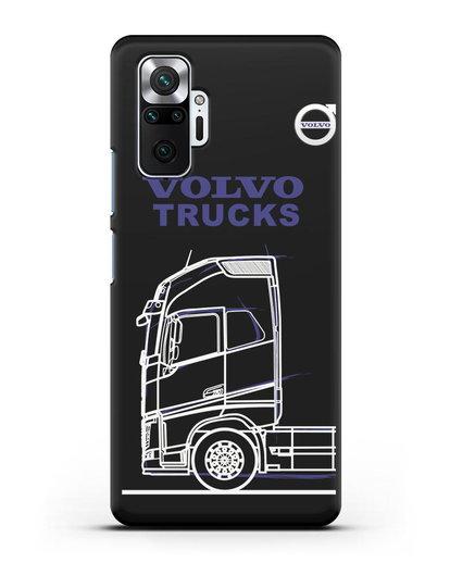 Чехол с изображением Volvo Trucks силикон черный для Xiaomi Redmi Note 10 Pro
