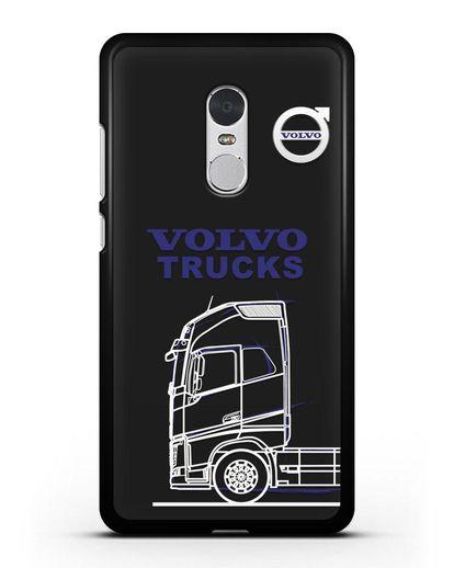 Чехол с изображением Volvo Trucks силикон черный для Xiaomi Redmi Note 4