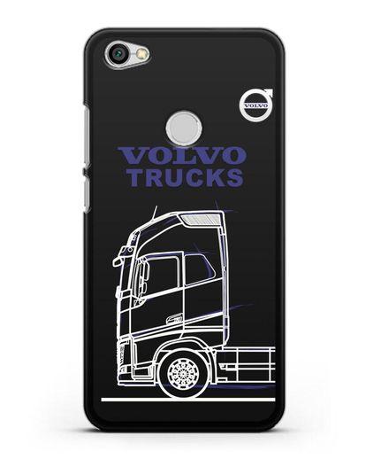 Чехол с изображением Volvo Trucks силикон черный для Xiaomi Redmi Note 5A Prime