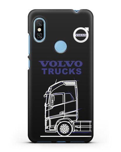 Чехол с изображением Volvo Trucks силикон черный для Xiaomi Redmi Note 6 Pro