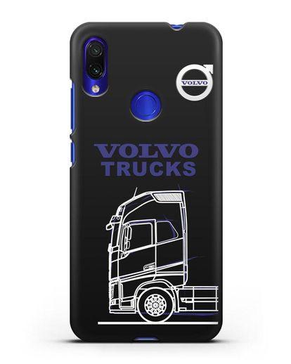 Чехол с изображением Volvo Trucks силикон черный для Xiaomi Redmi Note 7