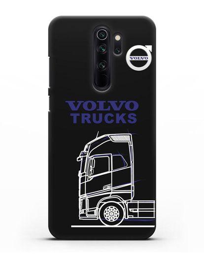 Чехол с изображением Volvo Trucks силикон черный для Xiaomi Redmi Note 8 Pro