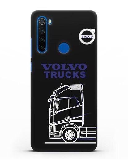 Чехол с изображением Volvo Trucks силикон черный для Xiaomi Redmi Note 8T