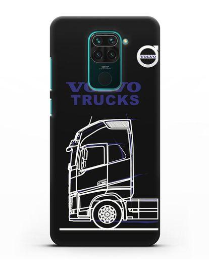 Чехол с изображением Volvo Trucks силикон черный для Xiaomi Redmi Note 9
