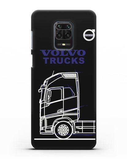 Чехол с изображением Volvo Trucks силикон черный для Xiaomi Redmi Note 9 Pro