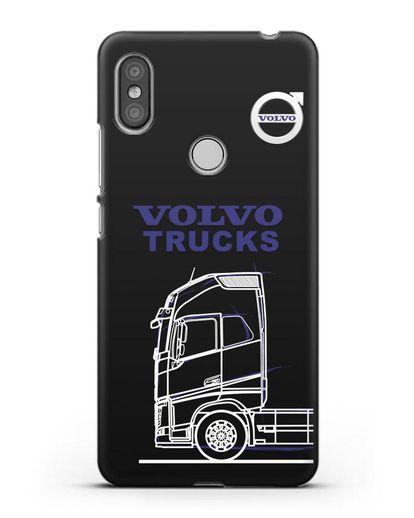 Чехол с изображением Volvo Trucks силикон черный для Xiaomi Redmi S2