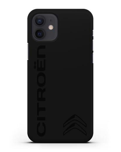 Чехол с надписью Citroen и логотипом силикон черный для iPhone 12
