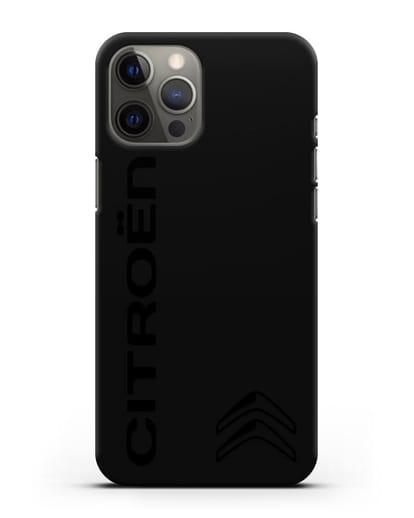 Чехол с надписью Citroen и логотипом силикон черный для iPhone 12 Pro Max