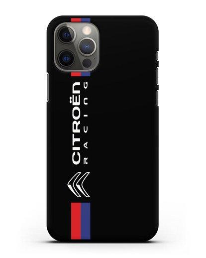Чехол с логотипом Citroen Racing силикон черный для iPhone 12 Pro